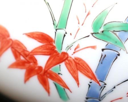 24130 人間国宝 14代酒井田柿右衛門(濁手三方割松竹梅文香炉)SAKAIDA Kakiemon