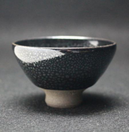 22817 久田重義(油滴ぐい呑)HISADA Shigeyoshi