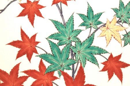 22767 人間国宝 14代酒井田柿右衛門 (濁手紅葉文皿)SAKAIDA Kakiemon