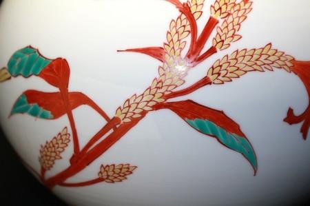 22700 13代酒井田柿右衛門  (濁手鶏頭文壷) SAKAIDA Kakiemon