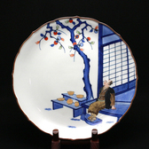 24178 12代酒井田柿右衛門 (染錦初代画額皿) SAKAIDA Kakiemon