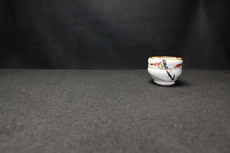 22236 人間国宝 藤本能道 (赤絵ぐい呑み) FUJIMOTO Yoshimichi