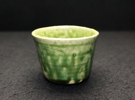 22313 鈴木 徹(緑釉酒呑)SUZUKI Tetsu