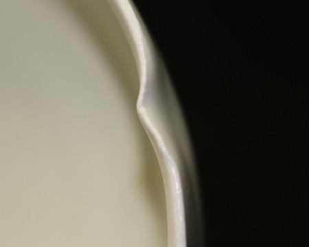 22964 塚本快示(白瓷輪花皿 5客) TSUKAMOTO Kaiji