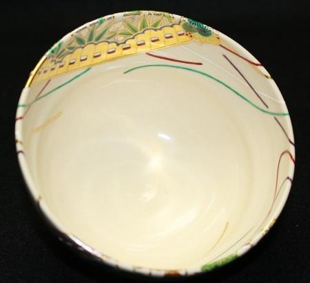 23025  真葛香斎  (桧扇茶碗(而妙斎)) MAKUZU Kosai