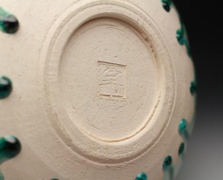 21974 人間国宝 加藤卓男 (正倉院復元三彩水指(安藤箱)) KATO Takuo