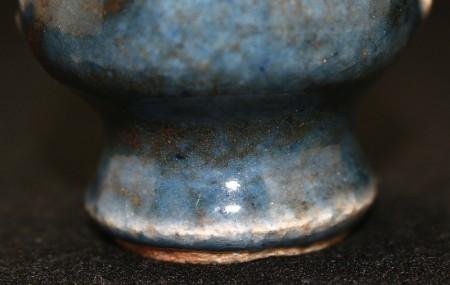 23168 民芸の巨匠 河井寛次郎 (呉洲花杯(紅葩識)) KAWAI Kanjiro