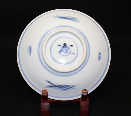 23303 人間国宝 富本憲吉  (染附菓子皿)  TOMIMOTO Kenkichi