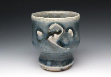 22024  民芸の巨匠 河井寛次郎[紅葩識] (呉洲花杯) KAWAI Kanjiro