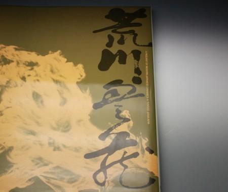 22020 人間国宝  荒川豊蔵[無田陶人](赤絵椿之絵酒盃)ARAKAWA