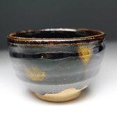 20749 加藤土師萌(黒釉茶碗[於泰山窯造之])KATO Hajime