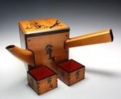 21983 人間国宝 加藤卓男(江戸漆酒桶「雪月花」)KATO Takuo