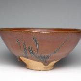 21112 清水卯一(柿釉茶碗)SHIMIZU Uichi