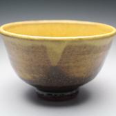 21410 船木研児(黄釉茶碗)FUNAKI Kenji