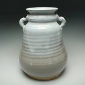 21598 十代 三輪休雪(萩焼花瓶)MIWA Kyusetsu