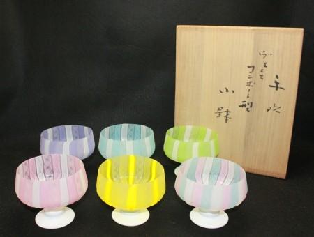23385  藤田喬平 (手吹ヴェニスコンポート型小鉢) FUJITA Kyohei