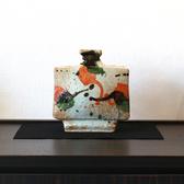 24048  河井寛次郎  (三色扁壷(展示会出品作))  KAWAI Kanjiro