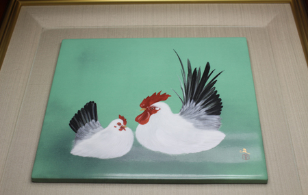 21493 牧 進(十二支図の内 酉[陶板額])MAKI Susumu