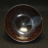 22741 木村盛和 (油滴天目釉木ノ葉茶盌) KIMURA Morikazu