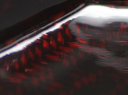 21513 太田儔(籃胎蒟醤(らんたいきんま)八角茶器「天の川」)OTA Hitoshi【新春特別展示会出品作品】