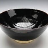 21782 天目釉の大家 木村盛和 (木ノ葉天目茶盌)KIMURA Morikazu