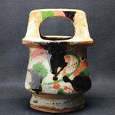 24047  河井寛次郎  (三色手壷)  KAWAI Kanjiro
