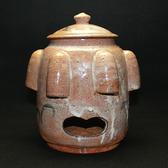 22632  北大路魯山人 (黄瀬戸風蚊やり器(2代黒田陶々庵識) KITAOJI Rosanjin
