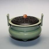 21992 陶聖 板谷波山 (青磁香爐) ITAYA Hazan