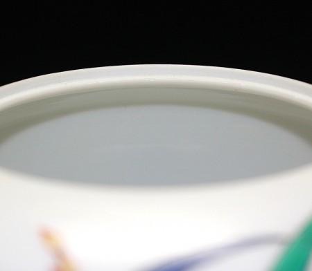 22683 人間国宝 14代酒井田柿右衛門 (濁手蘭文香炉)SAKAIDA Kakiemon