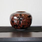 24107  青木龍山 (天目花紋花瓶) AOKI Ryuzan