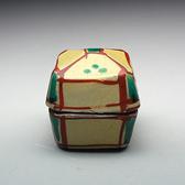 21975 人間国宝 浜田庄司(琉球窯赤絵盒子)HAMADA Syoji