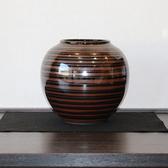 24108 青木龍山 (天目渚花瓶) AOKI Ryuzan