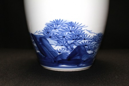 22628 近藤悠三の弟子 篠田義一(金彩山岳花瓶)SHINODA Giichi