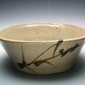 22004 人間国宝  浜田庄司 (鐵繪楕円鉢)HAMADA Syoji
