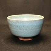 24126  人間国宝 中島宏 (青瓷茶盌) NAKAJIMA Hiroshi
