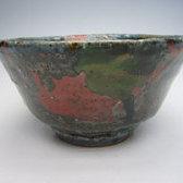 No.16075 河井寛次郎(呉須三色打釉茶碗)