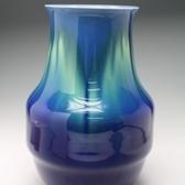 20479 三代 徳田八十吉(燿彩花瓶)TOKUDA Yasokichi