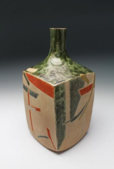20498 和太守卑良(吉花文酒瓶)WADA Morihira