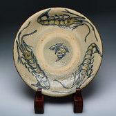 20522 金城次郎(魚紋八寸皿)KINJYO Jiro