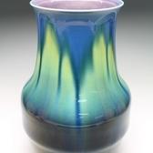 20691 徳田正彦(碧彩釉花瓶)TOKUDA Masahiko