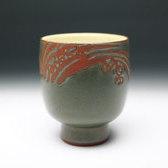 20812 五代 伊藤赤水(赤水焼 湯盌[湯呑])ITO Sekisui