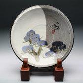 20855 六代 清水六兵衛(瑞松飾皿)KIYOMIZU Rokubei