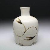 20860 十三代 中里太郎右衛門窯(唐津絵粉引徳利)NAKAZATO Taroemongama