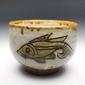 20934 金城次郎(魚紋茶碗)KINJYO Jiro